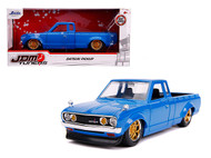 1972 DATSUN 620 PICKUP TRUCK BLUE JDM TUNERS 1/24 SCALE DIECAST CAR MODEL BY JADA TOYS 31603