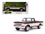 1979 FORD F-150 PICKUP TRUCK STOCK BROWN & WHITE 1/24 SCALE DIECAST CAR MODEL BY JADA TOYS 31588