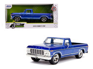1979 FORD F-150 PICKUP TRUCK STOCK BLUE 1/24 SCALE DIECAST CAR MODEL BY JADA TOYS 31597
