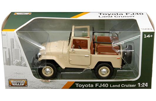 1//24 MOTORMAX Toyota FJ40 Hard Top Diecast Model Car Beige 79323 BG