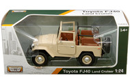 Toyota FJ40 Convertible Beige 1/24 Scale Diecast Model By Motor Max 79330