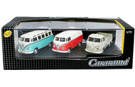 Volkswagen Bus T1 Transporter & T1 Pickup Truck 3 Piece Set Acrylic Case 1/72 Scale Diecast Car Model By Cararama 71313