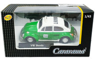 Volkswagen Beetle Bug Taxi VW Green & White 1/43 Scale By Cararama 71547