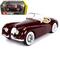1951 Jaguar XK 120 Roadster Burgundy 1/24 Scale Diecast Car Model by Bburago 22018