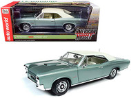 1966 PONTIAC GTO PALMETTO GREEN METALLIC HEMMINGS MOTOR NEWS 1/18 SCALE DIECAST CAR MODEL BY AUTO WORLD AMM1192