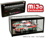 DISPLAY SHOWCASE MIRROR LED LIGHT USB POWERED ILLUMICASE FOR 1/43 1/18 1/64 SCALE DIECAST CAR DIORAMA MJ7710