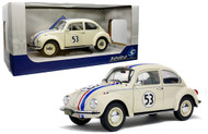 1973 VOLKSWAGEN BEETLE BUG #53 HERBIE LOVE BUG 1/18 SCALE DIECAST CAR MODEL BY SOLIDO S1800505
