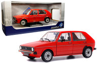 1984 VOLKSWAGEN GOLF L RED 1/18 SCALE DIECAST CAR MODEL BY SOLIDO S1800204