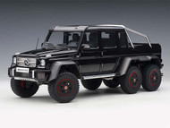 MERCEDES BENZ G63 AMG 6X6 GLOSS BLACK 1/18 SCALE DIECAST CAR MODEL BY AUTOART 76306