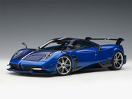 PAGANI HUAYRA BC BLUE FRANCIA CARBON 1/18 SCALE DIECAST CAR MODEL BY AUTOART 78277