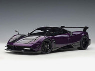 PAGANI HUAYRA BC VIOLA PSO CARBON 1/18 SCALE DIECAST CAR MODEL BY AUTOART 78279