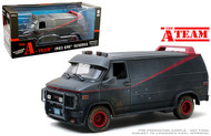 1983 GMC VANDURA VAN THE A-TEAM WEATHERED VERSION WITH BULLET HOLES 1/18 SCALE DIECAST CAR MODEL BY GREENLIGHT 13567