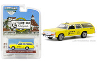1988 FORD LTD CROWN VICTORIA STATION WAGON YELLOW CAB OF CORONADO CALIFORNIA TAXI 1/64 SCALE DIECAST CAR MODEL BY GREENLIGHT 30122