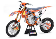 KTM 450 SX-F RED BULL COOPER WEBB #2 SUPERCROSS DIRT BIKE MOTORCYCLE 1/6 SCALE BY NEWRAY TOYS 49683