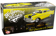 1957 CHEVROLET 210 YELLOW THE HOLLYWOOD KNIGHTS MOVIE 1/18 SCALE DIECAST CAR MODEL BY ACME A 1807006
