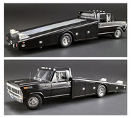 1970 FORD F-350 RAMP TRUCK BLACK LIMITED EDITION 1148 PIECES 1/18 DIECAST CAR MODEL BY ACME A 1801400