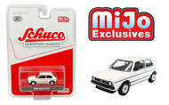 VOLKSWAGEN GOLF GTI WHITE EUROPEAN CLASSICS MIJO EXCLUSIVE 2400 MADE 1/64 SCALE DIECAST CAR MODEL BY SCHUCO 4600