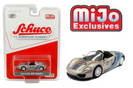 PORSCHE 918 SPYDER #23 MARTINI RACING SILVER EUROPEAN CLASSICS MIJO EXCLUSIVE 2400 MADE 1/64 SCALE DIECAST CAR MODEL BY SCHUCO 4500