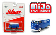 VOLKSWAGEN T1 PANEL BUS PORSCHE DIESEL BLUE EUROPEAN CLASSICS MIJO EXCLUSIVE 3600 MADE 1/64 SCALE DIECAST CAR MODEL BY SCHUCO 4800