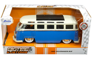 1962 VOLKSWAGEN BUS SAMBA VW 1/24 SCALE DIECAST CAR MODEL BY JADA TOYS 99056