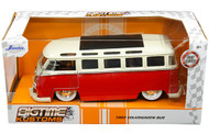 1962 VOLKSWAGEN BUS SAMBA VW 1/24 SCALE DIECAST CAR MODEL BY JADA TOYS 99058