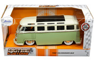1962 VOLKSWAGEN BUS SAMBA VW 1/24 SCALE DIECAST CAR MODEL BY JADA TOYS 99064