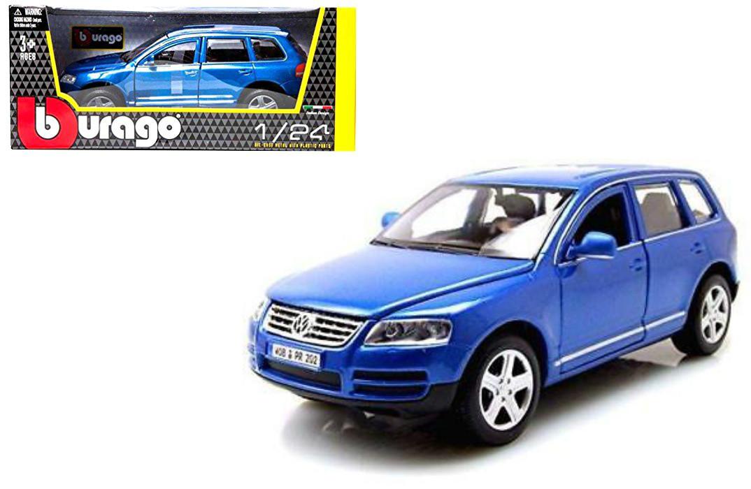 Bburago Volkswagen Touareg Blue 1 24 Diecast Car 22015 Cars Trucks Vans Contemporary Manufacture