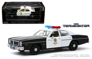 1977 DODGE MONACO TERMINATOR METROPOLITAN POLICE 1/24 SCALE DIECAST CAR MODEL BY GREENLIGHT 84101
