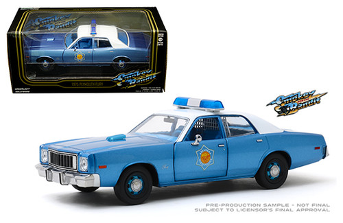 1975 PLYMOUTH FURY ARKANSAS POLICE SMOKEY & THE BANDIT 1/24 SCALE DIECAST CAR MODEL BY GREENLIGHT 84102