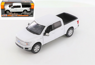 2019 FORD F-150 LARIAT CREW CAB PICKUP TRUCK WHITE 1/24-27 SCALE DIECAST CAR MODEL BY MOTOR MAX 79363