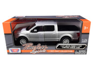 2019 FORD F-150 LIMITED CREW CAB PICKUP TRUCK SILVER 1/24-27 SCALE DIECAST CAR MODEL BY MOTOR MAX 79364