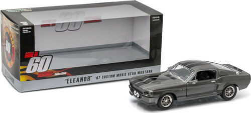 1967 FORD MUSTANG CUSTOM ELEANOR GONE IN 60 SECONDS MOVIE 1/24 SCALE DIECAST CAR MODEL BY GREENLIGHT 18220