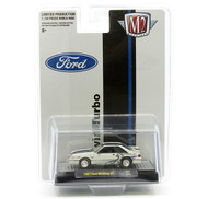1987 FORD MUSTANG GT 5.0 TWIN TURBO FOX BODY HOBBY EXCLUSIVE 1/64 SCALE DIECAST CAR MODEL BY M2 MACHINES 31500-HS07