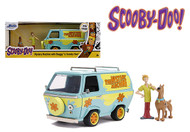 SCOOBY DOO MYSTERY MACHINE WITH SCOOBY & SHAGGY FIGURE HOLLYWOOD RIDES 1/24 SCALE DIECAST CAR MODEL BY JADA TOYS 31720