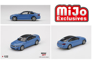 BMW M4 F82 YAS MARINA BLUE MIJO EXCLUSIVE 2400 MADE 1/64 SCALE DIECAST CAR MODEL BY TSM MINI GT MGT00122