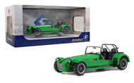 2014 CATERHAM SEVEN 275R ACADEMY GREEN 1/18 SCALE DIECAST CAR MODEL BY SOLIDO S1801801