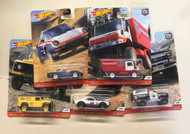 CAR CULTURE ALL TERRAIN SET OF 5 REAL RIDERS 1/64 SCALE DIECAST CAR MODELS BY HOT WHEELS FPY86-956Q