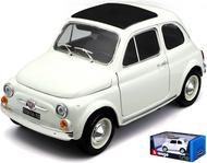 1965 FIAT 500 F WHITE 1/18 SCALE DIECAST CAR MODEL BY BBURAGO 12020