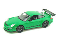 Welly 1/24 Scale Porsche 911 997 GT3 RS Green Diecast Car Model 22495