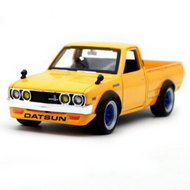 1973 DATSUN 620 PICKUP TRUCK YELLOW TOKYO MODEL JDM 1/24 SCALE DIECAST CAR MODEL BY MAISTO 32528