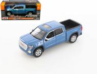 2019 GMC SIERRA 1500 DENALI CREW CAB PICKUP TRUCK BLUE 1/24-27 SCALE DIECAST CAR MODEL BY MOTOR MAX 79362
