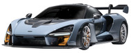 MCLAREN SENNA GREY BLUE 1/24 SCALE DIECAST CAR MODEL BY MOTOR MAX 79355
