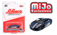 LAMBORGHINI HURACAN MATT BLUE WITH WHITE STRIPES 2400 MADE MIJO EXCLUSIVE 1/64 SCALE DIECAST CAR MODEL BY SCHUCO 3900