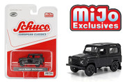 LAND ROVER DEFENDER MATT BLACK 2400 MADE MIJO EXCLUSIVE 1/64 SCALE DIECAST CAR MODEL BY SCHUCO 4000