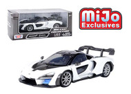MCLAREN SENNA WHITE 1/24 SCALE DIECAST CAR MODEL BY MOTOR MAX 79355