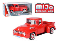 1956 FORD F-100 PICKUP TRUCK RED 1/24 SCALE DIECAST CAR MODEL BY MOTOR MAX 73235