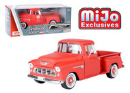 1956 FORD F-100 PICKUP TRUCK MATT RED 1/24 SCALE DIECAST CAR MODEL BY MOTOR MAX 73235