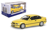 1994 BMW M3 E36 YELLOW 1/18 SCALE DIECAST CAR MODEL BY SOLIDO S1803902