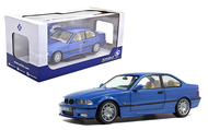 1990 BMW M3 E36 BLUE 1/18 SCALE DIECAST CAR MODEL BY SOLIDO S1803901