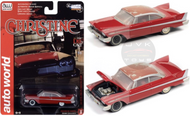 1958 PLYMOUTH FURY CHRISTINE PARTIALLY RESTORED 1/64 SCALE DIECAST CAR MODEL BY AUTO WORLD AWSP039
